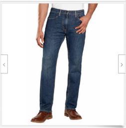 Levi's Men's 505 Regular Fit Stretch Straight Leg Jeans Size