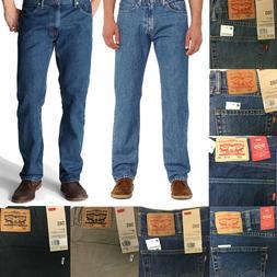 Levi's Men's 505 Straight Cut Regular Fit 5 Pocket Denim Blu