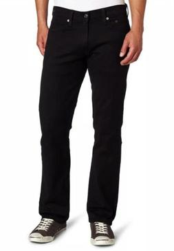 Levi's Men's 514 Straight Fit Stretch Jean Black 34x34