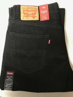 Levi's Men's 550 Jeans $27 OFF BLACK Relaxed Size 29, 31, 33