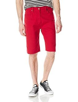 Levi's Men's 569 Loose Straight Short, Scooter Red Bull Deni