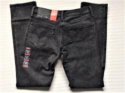 Levi's Men's New 511 2377 32X34 Adolescent Black Acid Washed