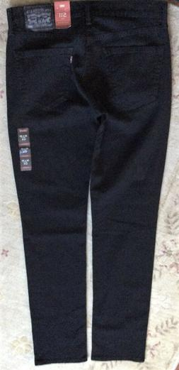 Levi's Men's NWT 511 0168 29x32 Black Slim Fit Hip ~ Ankle S