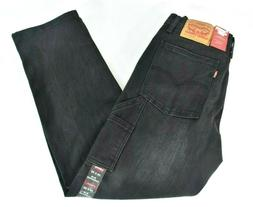 Levi's Mens Black Jeans Pants 28 x 30 New Slim Carpenter 2 w