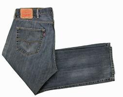 Levis 501 Blue Jeans 38x28 Original Button Fly Dark Wash Cot