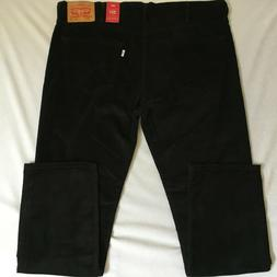 Levis 511 Mens Slim Fit Black Stretch Corduroy Pants 40x32 N