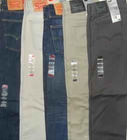 Levis 513 Jeans New Men Levi's Slim Straight Fit Pants 28 29