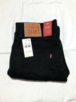 Levis 514 30x30 Mens Black Straight Fit New Jeans Strech