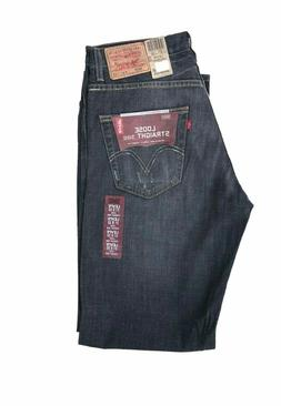 Levis 569 Loose Straight Fit Men's Jeans Zipper Fly Disconti