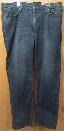 Levis Big & Tall 514 Straight Fit Dark Wash Mens Blue Jeans