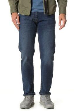 Levis Men's 505 Regular-Fit Straight leg Jeans sits at waist