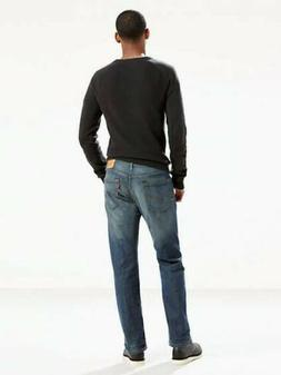 Levis Mens 505 Regular Fit Straight Leg Stretch Denim Jeans