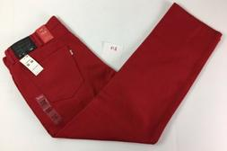LEVIS New Mens 541 JEANS 40/32 RED Color ATHLETIC Sits At Wa