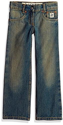 Cinch Boys' Big Low Rise Slim Jean, Medium Stone Wash with T