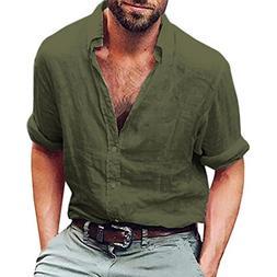 long sleeve henley shirt cotton