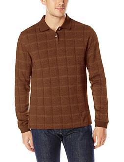 Van Heusen Men's Flex Jaspe Polo Shirt, Orange Gingerbread,