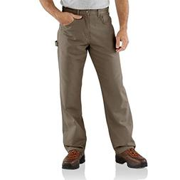 RUGGED CANVAS COTTON CARPENTER PANTS NWT~ MEN/'S SMITH/'S FLANNEL LINED BROWN.