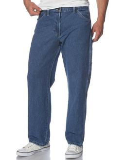 Dickies Men's Loose Fit Carpenter Jean, Stone Washed, 50x30