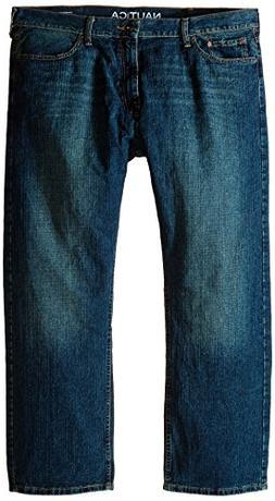 Nautica Men's Loose Fit Medium Wash Jean, Marine Rinse, 42Wx