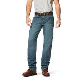 Ariat Men's M3 REBAR Loose Fit Stetch Jean, Carbine Blue, 30
