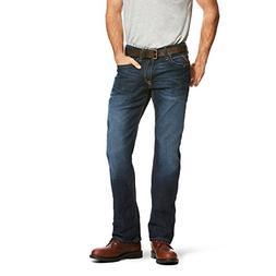 Ariat Men's M4 Rebar Low Rise Boot Cut Stretch Jean, Maritim