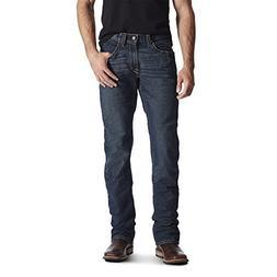 Ariat Men's M5 REBAR Stretch Slim Fit Straight Leg Jean, Blu