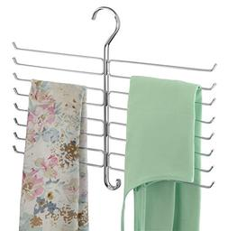 mDesign Metal Closet Rod Hanging Accessory Storage Organizer