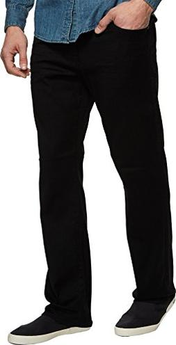 Mavi Jeans Men's Matt Relaxed Straight Leg In Black Brushed