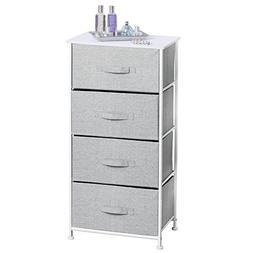 mDesign Vertical Dresser Storage Tower - Sturdy Steel Frame,