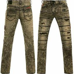 AFFLICTION Men Denim Jeans ACE RISING SABLE Embroidered Buck