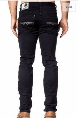 AMERICAN FIGHTER Men Denim Jeans LEGEND ATONE BLACK Buckle B