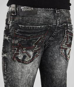 AMERICAN FIGHTER Men Denim Jeans LEGEND AVAIL PERTH Buckle B