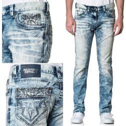 AMERICAN FIGHTER Men Denim Jeans LEGEND AXIS MANNER Buckle $