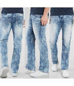 AMERICAN FIGHTER Men Denim Jeans LEGEND ECHO ATOM Buckle $12