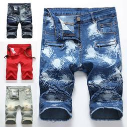 Men denim shorts Mens Short Jeans Desrtoyed Pant Short Pants