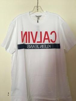 Calvin Klein Jeans Men Graphic CK Logo Crewneck T-shirt Size