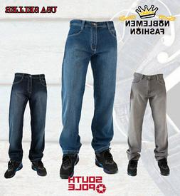 SOUTHPOLE MEN JEANS 4180 RELAXED FIT DENIM 7 COLORS BIG AND