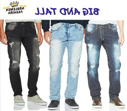 MEN JEANS BIG AND TALL SLIM STRETCH FIT SLIM STRAIGHT FIT TR