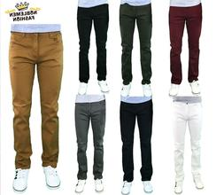 MEN JEANS SLIM STRETCH FIT SLIM FIT TROUSERS TWILL RINSE DEN