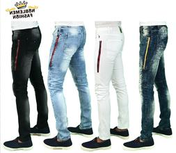 MEN JEANS SLIM STRETCH FIT SLIM FIT TROUSERS SKINNY PANTS HI