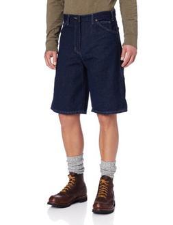 Dickies Men's Big 11 Inch Denim Carpenter Short, Indigo Blue
