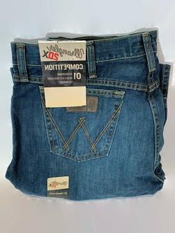 Wrangler Men's 20X 01 Competition Relaxed Fit River Wash 34x