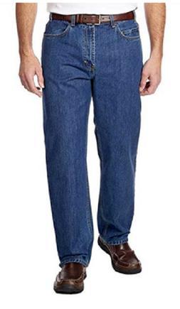 Kirkland Signature Men's 5 Pocket Blue Jeans, Medium Wash