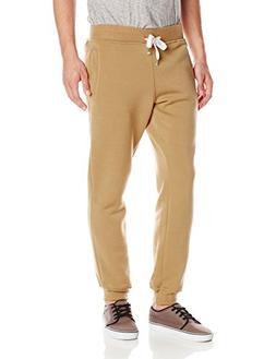 Southpole Men's Active Basic Jogger Fleece Pants, Wheat, Lar