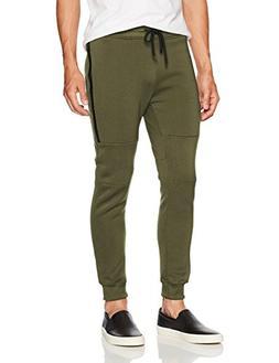 Southpole Men's Active Basic Jogger Fleece Pants, Olive, Med