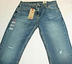 Men's Authentic Levi's 511 Distressed Skinny Slim Fit Blue J