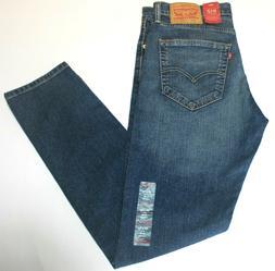 Men's Authentic Levi's 512 Slim Fit Tapered Blue Stretch Jea