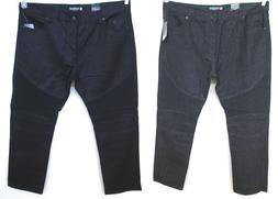 Men's SOUTHPOLE BIG & TALL Black Moto Biker Twill Jeans Pant
