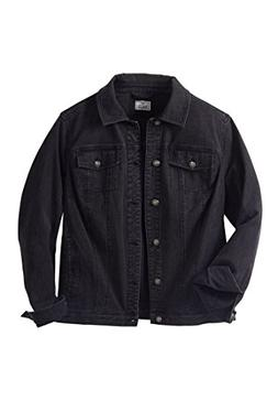 Liberty Blues Men's Big & Tall Denim Jacket, New Black Big-6
