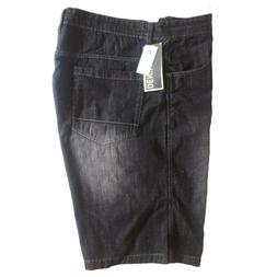 SOUTHPOLE MEN'S BIG AND TALL DENIM SHORT 9007-3236 BLACK SAN